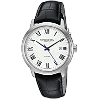 Raymond Weil Men's 'Maestro' Swiss Stainless Steel and Leather Automatic Watch