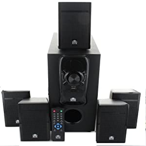 Acoustic Audio AA5150 Home Theater 5.1 Speaker System 400W with Powered Sub by Acoustic Audio