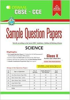 CBSE - CCE Science : Sample Question Papers - Term 2 (Class 10) price comparison at Flipkart, Amazon, Crossword, Uread, Bookadda, Landmark, Homeshop18