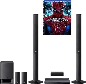 Sony - BDV-E490 - Home Cinéma Blu-ray 5.1 avec station d'accueil pour iPod/ iPhone - 3D - 1000 W - HDMI - USB + Pack Amazing Spiderman Trilogy 3D - Noir