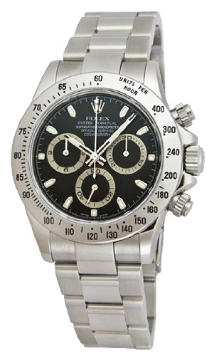 Rolex Daytona Black Index Dial Oyster Bracelet Mens Watch 116520BKSO