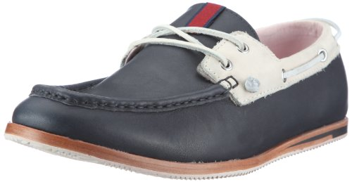 Ben Sherman Men's Adam Leather Oxfords Bn110109 Blue 7 UK