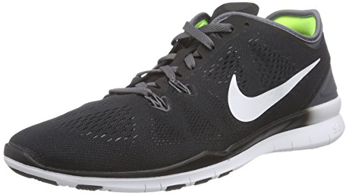 Nike Women's Free 5.0 Tr Fit 5 Black/White/Dark Grey/White Training Shoe 7.5 Women US