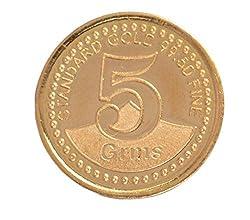 A Himanshu BIS Hallmarked 5 grams 24k (995) Yellow Gold Precious Coin