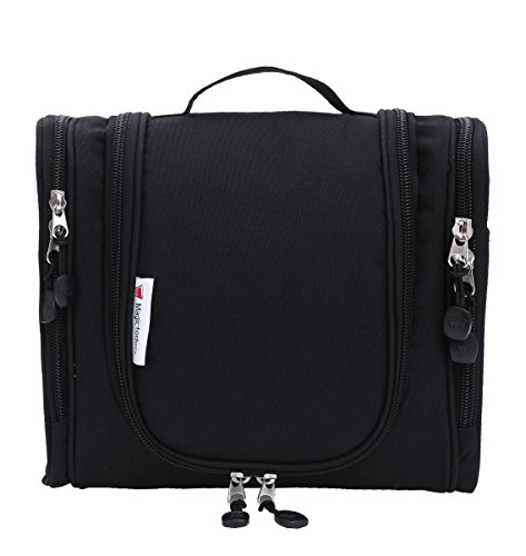 Magictodoor-Toiletry-Bag-Travel-Cosmetic-Bag-Bathroom-Case-with-a-Hook-Black
