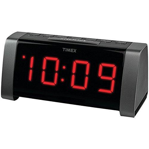 "TIMEX T235B AM/FM Dual Alarm Clock Radio with Jumbo 1.8"" LED"
