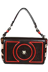 Versace Handbags Brown and Red Leather DBFD094 Purse