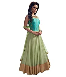 Unique Collection Women's Dress (MPN4036_Free Size_green)