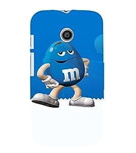 EPICCASE Blue M&M Mobile Back Case Cover For Moto E (Designer Case)