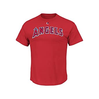 Mike Trout Los Angeles Angels Adult Red Gametime Player T-Shirt by Majestic