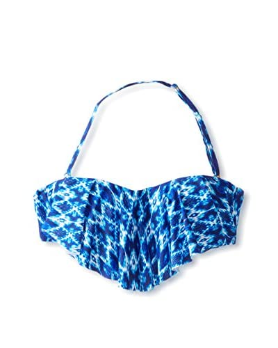 Jessica Simpson Women's Navajo Flounced Bandeau Swim Top
