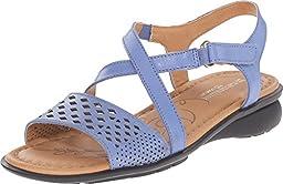 Naturalizer Women\'s Janessa Ocean Blue Leather Sandal 7.5 M (B)
