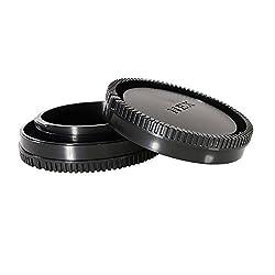 CamDesign Body Cap & Camera Rear Len Cover Set for Sony E-Mount NEX Mirrorless Cameras Sony Alpha a6000, a5100, a5000, a3000, Alpha A7, A7R, A7S, A7II, NEX-7, NEX-6, NEX-6L/B , NEX-5, NEX-5C, NEX-5N, NEX-5R, NEX-5T, NEX-5K, NEX-C3, NEX-3, NEX-F3, NEX-3N, NEX-VG10, VG20 + CamDesign Wristband Lens Focus Ring