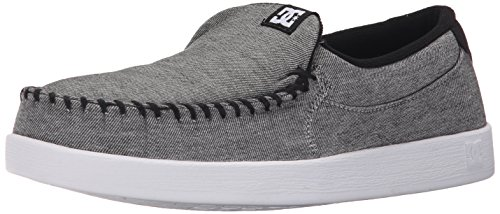DC Men's Villain TX Slip-On Shoe, Grey Ash, 13 M US