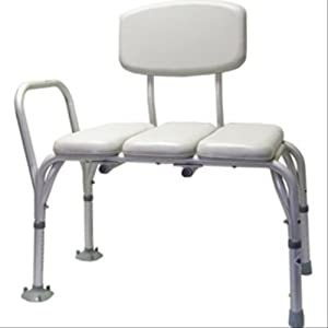 amazon com nova padded bathtub transfer bench 9080