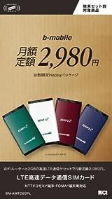 日本通信 bモバイル4G WiFi2 月額定額2980円 台数限定Happyパッケージ BM-AMTC2GFL