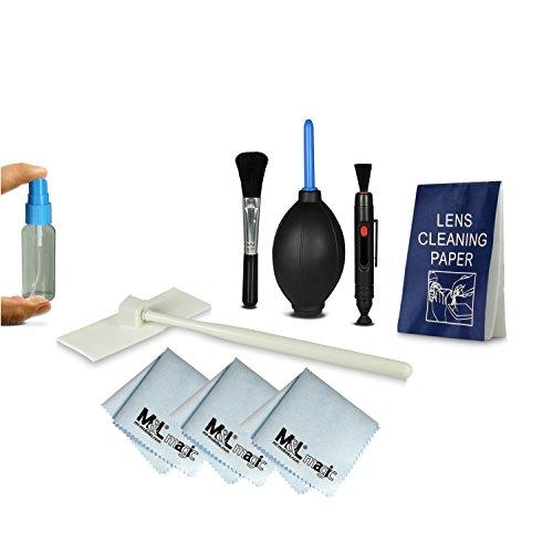 Sensor Reinigungsset | Sensor Cleaning Kit + Reinigungsset für Spiegelreflexkameras [Canon, Nikon, Pentax, Sony, Samsung, Panasonic], Objektive, DSLR Kameras, Smartphones, Camcorder, etc. - inklusive: Reinigungsstift [LensPen] + Blasebalg + 3x Mikrofasertuch + ergonomische Sprühflasche + 50x Einweg - Reinigungstuch + Reinigungspinsel - Silikon- und Schleifmittelfrei