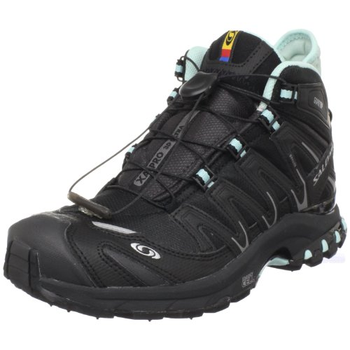 SALOMON XA Pro 3D Mid GTX Ultra Ladies Trail Running Shoes, Black/Blue, UK7.5