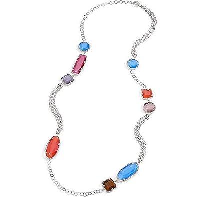 collier Set S140 Joli argent 925 trois lignes perles Lady bracelet