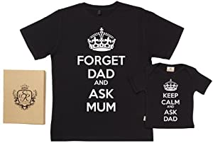Spoilt Rotten - Keep Calm Ask Dad T-Shirts - 100% Bio-algodón - Dad & Baby Gift