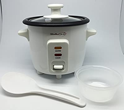 Saachi SA-1215 1.5 Cup Automatic Electric Rice Cooker, Small, White from Saachi