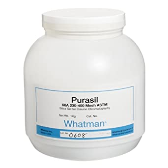 GE Whatman 4745-010 Purasil 60A Silica Gel Media for Flash Chromatography, 230 to 400 Mesh, 0.7 to 0.9mL/g Pore volume