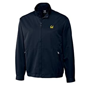 NCAA Mens California Bears Navy Blue Weathertec Whidbey Jacket by Cutter & Buck
