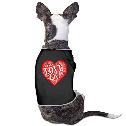 Dog Clothes Love Live Pet Clothing Vest Soft And Warm Polyester Fiber Pet Puppy Clothes