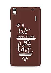 AMEZ do great things with love Back Cover For Lenovo K3 Note