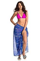PrettySecrets Women's Swimwear Sarongs (077233_Blue_Free Size)