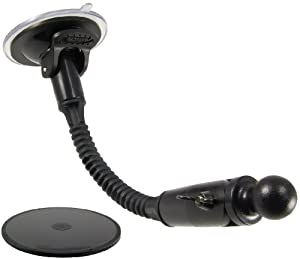 ARKON GN042 Garmin Nuvi 8.5-Inch Windshield Suction Gooseneck Mount with 17mm Ball Head by Arkon