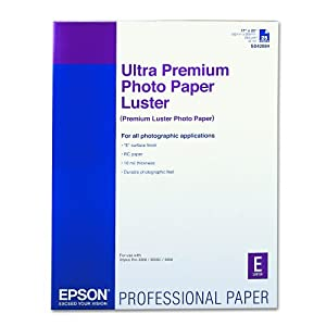 Epson Ultra Premium Photo Paper LUSTER (17x22 Inches, 25 Sheets) (S042084)