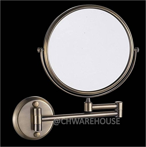 "Nickel 8"" Magnifying Mirror For Bath, Wall Mounted, Swing Arm, 1 & 7X, 2-Sided front-719028"
