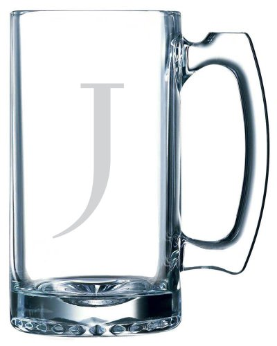 Celtic Etched Monogram 25oz Libbey Sports Beer Mug (Letter J) (Jeffery Beers compare prices)