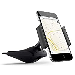 [Upgraded] Kootek Universal Smartphone CD Slot Car Mount Phone Holder Cradle for iPhone 6 6 Plus 5s 5c 5, iPod Touch, Samsung Galaxy S6 S5 S4 Note 2 3, Sony Xperia Z3 Z4, HTC One M8 M7 M9 X S Desire 510, LG Optimus, Nokia L