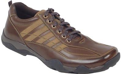 Sport Stags Men's Spoiler Dark Brown Vegan Shoe, Size 13