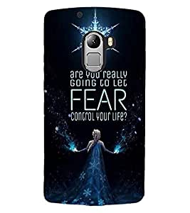 ColourCraft Image with Quote Design Back Case Cover for LENOVO A7010