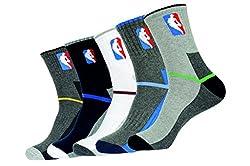 NBA Men Casual socks Crew - pack of 5