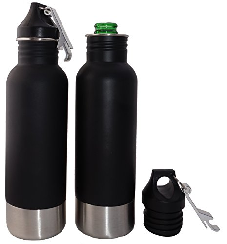 Craft Connections Stainless Steel Bottle Insulator with Bottle Opener. Great Accessory for Beer, Cider, and Soda Bottles - 2 Pack Set (Redds Apple Ale Bottle Opener compare prices)