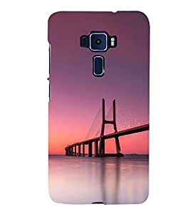 SUSPENSION SEA LINK AT SUNSET 3D Hard Polycarbonate Designer Back Case Cover for Asus Zenfone 3 Deluxe ZS570KL::Asus Zenfone 3 Deluxe (5.7 INCHES)