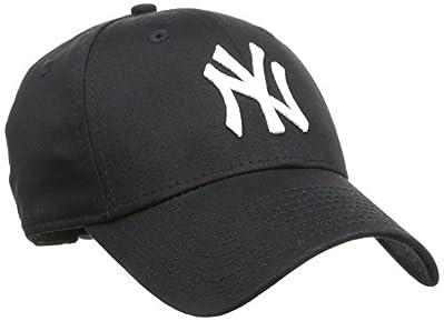 New Era Uomo MLB Basic NY Yankees 9Forty Berretto Da Baseball Regolabile - Nero, One Size - 9forty cappuccio regolabile taglia unica - Vestibilità classica con in rilievo squadra ricamo logo e nuova bandiera era al lato sinistro - New era - 9...