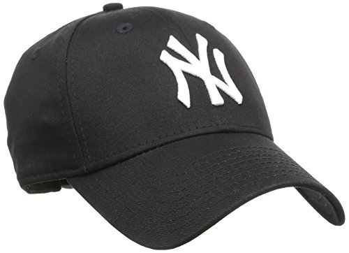 New Era - MLB Basic NY Yankees 9Forty Adjustable, Baseball beretto da uomo, nero (black), única