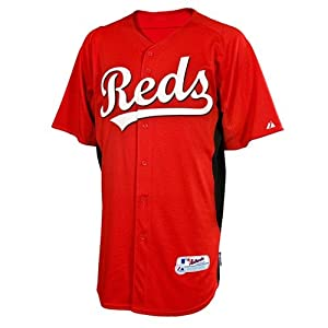 MLB Cincinnati Reds Youth Joey Votto 19 Cool Base Batting Practice Jersey, Red Black by Majestic