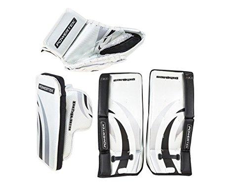 New-PowerTek-Barikad-V20-Youth-Hockey-Goalie-Pad-Set-20-Leg-Pads-Glove-Blocker