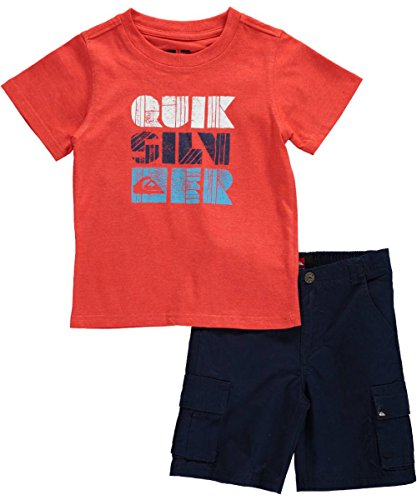 "Quiksilver Little Boys' Toddler ""Wood Block Logo"" 2-Piece Outfit"