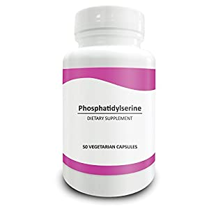 Pure Science Phosphatidylserine 100mg - Boost Brain Glucose Metabolism & Function, Combat Memory Decline - 50 Vegetarian Capsules