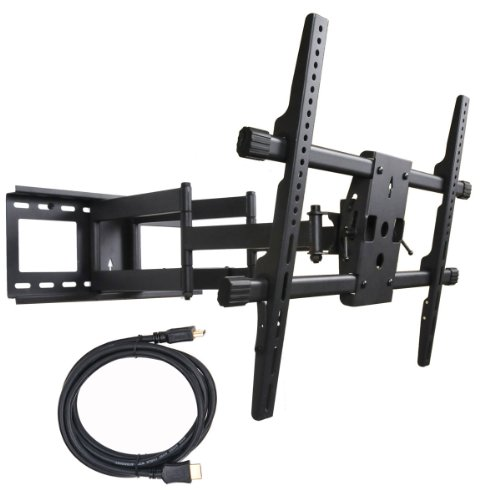 "Videosecu Articulating Tv Wall Mount Bracket For 55"" 60"" Lg 55G2 55Lm5800 55Lm6200 55Lm6700 55Lm7600 55Lm8600 55Lm9600 55Ls4600 55Ls5700 55Ls5750 60Pa5500 60Pa6500 60Pm6700 60Pm9700 Tv Displays (Black) Mw380B B06"