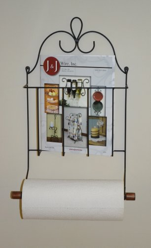 J&J Wire Victorian Mag Double Toilet Paper/Towel Holder
