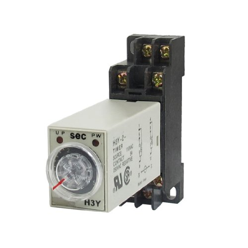 H3Y-2 110Vac Dpdt 5 Seconds 8P Terminals Delay Timer Time Relay W Socket