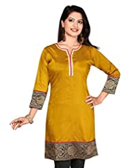 Cotton Silk Long Anarkali Long Printed Kurtis - B00YV4BWCQ